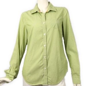 American Eagle Striped Lime Green Shirt Top 10